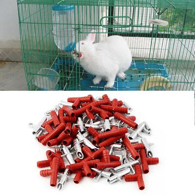 30pcs Rabbit Nipple Water Drinker Waterer Poultry Feeder Bunny Rodent Mouse AFK