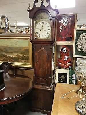 Victorian Longcase clock by Alex. Black Kircaldy. Celebrating Queens visit 1848