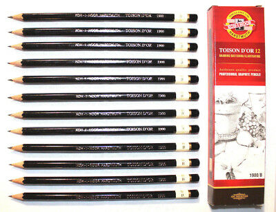KOH-I-NOOR Professional Graphite Pencils 1900,Pack of 12, 20 Grades from 8B-10H