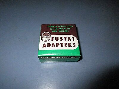 *NOS-  Fustat Fuse Adapters for 15 Amp Fuses -unopened box of 4