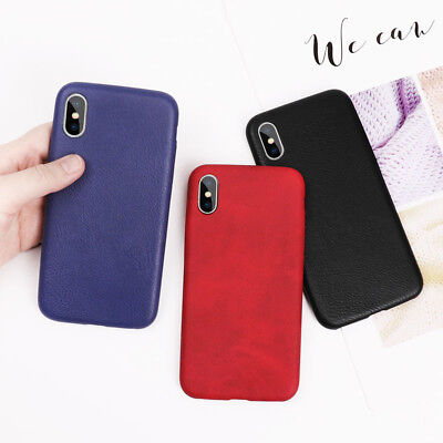 Luxury Business lether pattern Hard PC Phone case for iphone X 6 6s 7 8 plus