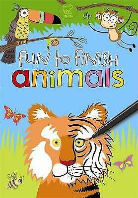 Animals Colouring Book: Fun To Finish - A4 Paperback Book To Complete