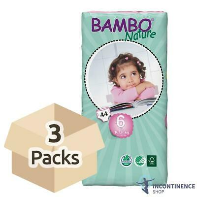 Bambo Nature Size 6 - Junior Nappies (16-30kg) - 3 Packs of 44 - 1180ml