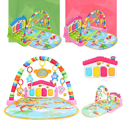 3-in-1-Baby Play Mat Gym Lay and Play Piano with Music and Lights Fun Sounds