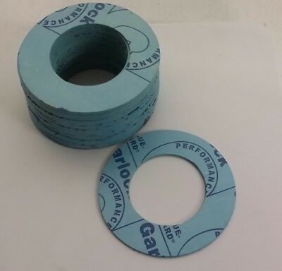"Garlock 1 1/2"" Ring Gasket 27 pcs New 1/8 thick Blue"