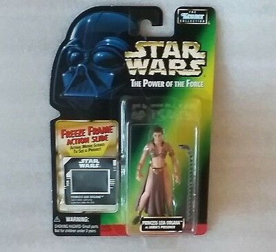STAR WARS Princess Leia Organa as Jabba's Prisoner 1997 Mint on Card Vintage Toy