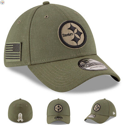 low priced 2b228 b2beb Pittsburgh Steelers New Era 2018 Salute To Service Hat Sideline 39THIRTY  Flex