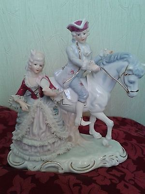 Vintage figurine - Horseman with a lady