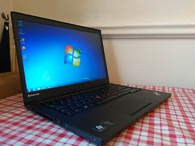 LENOVO THINKPAD T440S Laptop i5-4200U 1 6Ghz 4GB 500GB Webcam Windows 7  Office