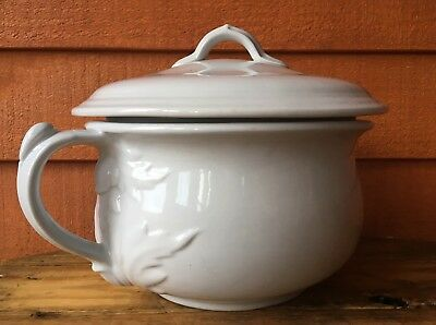 Antique John Edwards Ironstone Chamber Pot With Lid