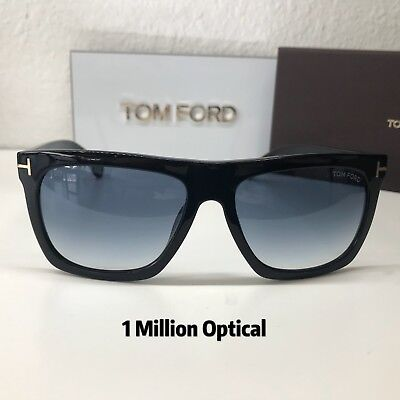 cfdd3ab224 TOM FORD TF513 Morgan Shiny Black Gradient Sunglasses 01A 57-16 140 ...