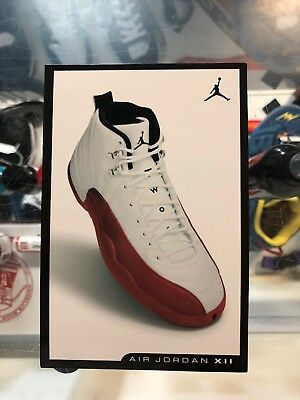 timeless design 23b5a 9c4ab Nike Air Jordan XII 12 RETRO CARD WHITE BLACK RED CHERRY CHICAGO BRED FLU  GAME