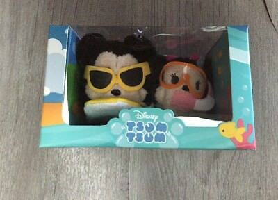 Disney Store TSUM TSUM hawaii set Mickey & Minnie Surf Snorkel NEW IN BOX