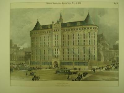 City Prison, New York, NY, 1897, Withers & Dickson, Original Hand Colored