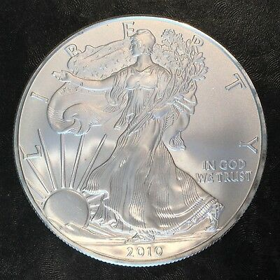 2010 Uncirculated American Silver Eagle US Mint Issue 1oz Pure Silver #H232