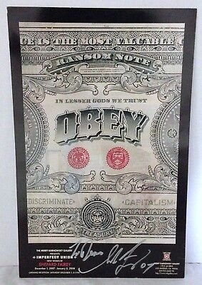 SHEPARD FAIREY Signed OBEY Ransom Note Imperfect Union Merry Karnowsky 2007