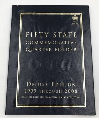 U.S. Fifty State Commemorative Quarter Folder Deluxe Edition 1999-2008~110 Qtrs
