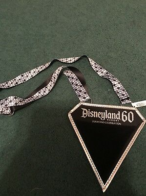 DISNEYLAND 60th Anniversary Diamond Celebration Pin Trading Lanyard NEW!