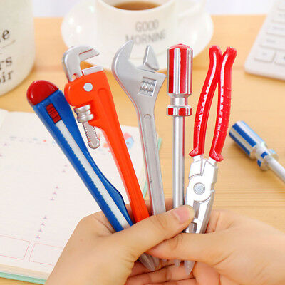 Creative Wrench Tool Shape Ballpoint Pen School Stationery Office Writing Supply