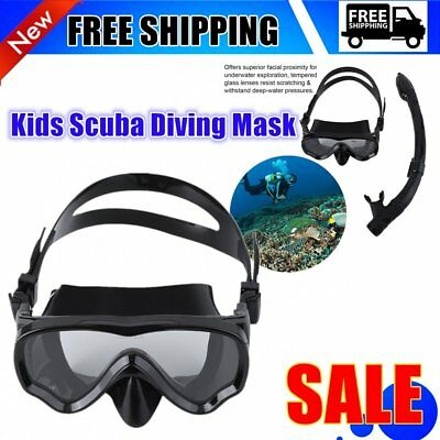 ALOMA Kids Scuba Diving Mask Silicone Snorkel Mask Durable Diving Masks Set SW