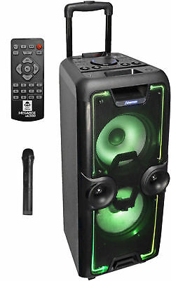 "iDance ""MEGABOX 2000"" Tragbare Sound & Light Bluetooth & USB/MicroSD Partybox"