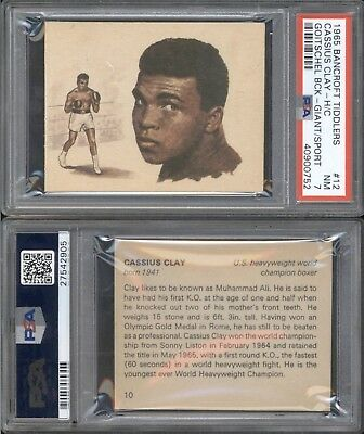 1965 Bancroft Tiddlers CASSIUS CLAY (MUHAMMAD ALI) PSA 7 Front & Back Boxing