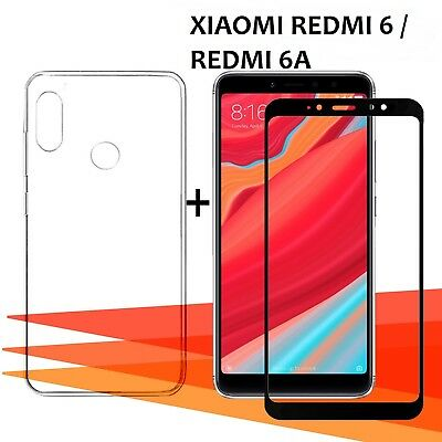 Xiaomi Redmi 6 / 6A Pack Protector glass glass tempered full 3D +cover