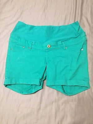 H&M Teal Maternity Shorts Size 10