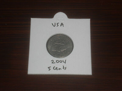 2004 USA 5 Cent coin United States five cents American nickel Louisiana Purchase
