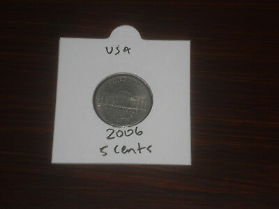 2006 USA 5 Cent coin United States five cents American nickel Jefferson