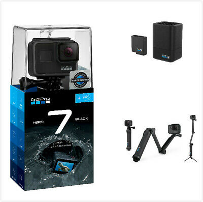 GoPro Bundle, GoPro 7+32G Card+3 Way+Dual Battery Charger with Battery