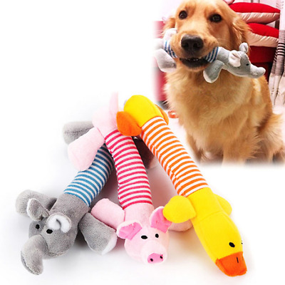 2018 Pet Puppy Chew Squeaky Sound Toys Squeaker Pig Elephant Duck For Dog