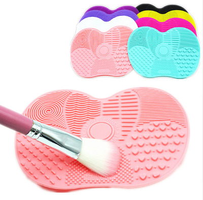 Silicone Makeup Brush Cleaner Washing Scrubber Board Cleaning Mat Hand Tool 8Col