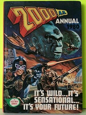 2000 AD ANNUAL Vintage SCI FI 1980 Comic Book Judge Dredd Rare