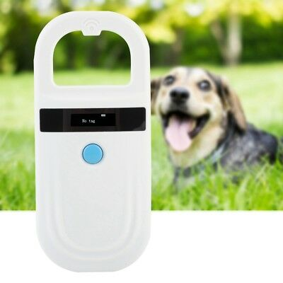 RFID Animal Chip Dog Reader Microchip Handheld Pet Scanner 134.2/ 125kHz White