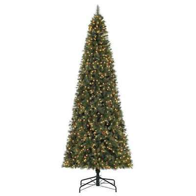 Home Heritage Albany 12' LED Christmas Tree with Pine Cones & Stand (Open  Box - FAST SHAPE MONTANA Fir Pre-Lit Christmas Tree 9' 1300 Clear Lights W