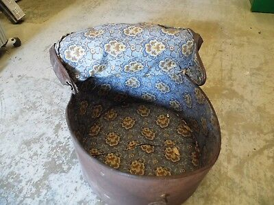 "Antique Victorian Large  Hat Box Storage case "" The Featherweight hat bag """