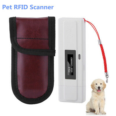 Portable Handheld RFID Reader Animal Chip Reader Pet Microchip Scanner 134.2kHz