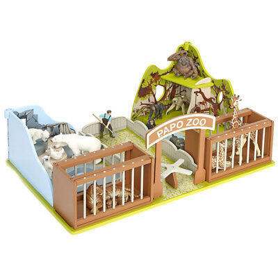 Papo The Zoo Playset With Figures NEW