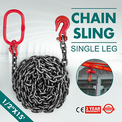 1/2 x15 GRADE 80 Chain Sling SOG Building Breaking Load 41880lb Rigging
