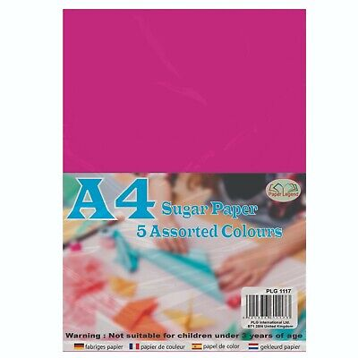 A4 Coloured Sugar Paper - 60 Sheets- Assorted Colours