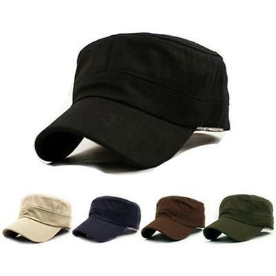 Casual Hats Classic Vintage Army Military Cadet Style Cotton Cap Hat Adjustable