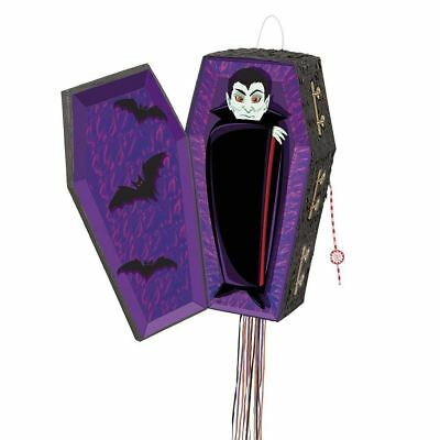 Halloween Party Supplies Decoration Scary Pull String Vampire Coffin Pinata Game