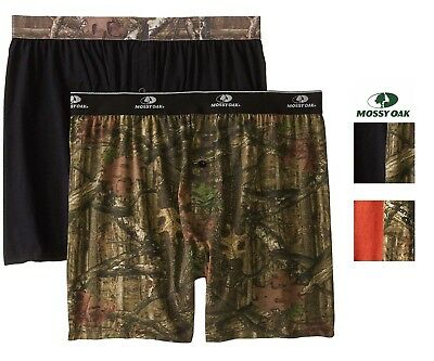 Mossy Oak Mens 2 Pack Knit Boxers