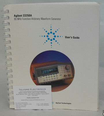 Agilent 33250A 80 MHz Function/Arbitrary Waveform Generator User's Guide