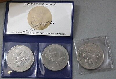 1981 H.R.H Prince of Wales & Lady Diana Spencer Coin Queen Elizabeth II Crown