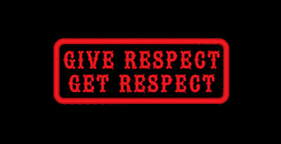 Give Respect Get Respect Embroidered Patch Biker Mc Sew On Made In Usa (C)