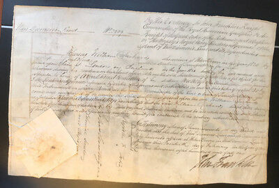 Unique Convict 1841 Australian Conditional Pardon Signed by Sir John Franklin