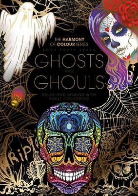 Harmony of Colour Book 47 Ghosts & Ghouls - Adult Colouring 36 Designs - NEW