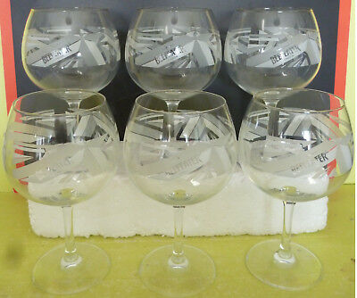 Lot 6 Verres  A Gin Tonic , Beefeater  , Od752 ( E ) *